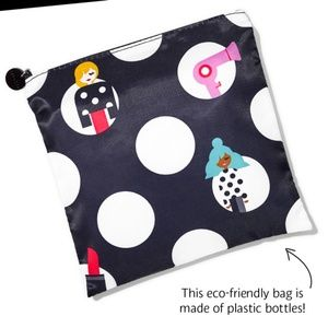 Sephora Black Polka Dot Makeup Bag Cosmetic Case